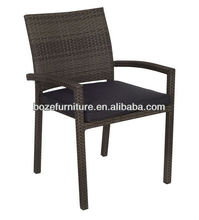 Cheap Outdoor Rattan Chair/ Party Wicker Chair/ Armrest Stacking Chair