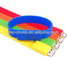 promotional giveaways Silicone Bracelet Usb Flash Disk