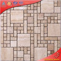 SC-J grey marble rainbow color glass mosaic stone glass mosaic tile