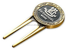 Christmas hot gifts !!! Antique Gold Golf Divot/Golf Ball Marker/ Golf Tool made in China
