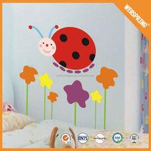 Superior reflective kid's room 3d pvc laser cartoon bee wall sticker