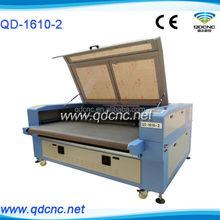 fabric cutting machine laser cutting machine for cloth QD-1610-2 leather laser cutter