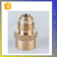 LB-P9189 Nickel Plated And Brass Male Thread Brass Straight Fitting