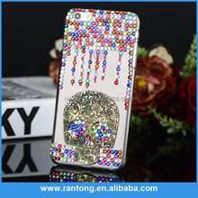 Skull bling rhinestone cell phone case for iphone