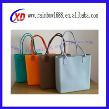 Brand bag silicone ladies hand bags and purse factory