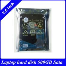"""2.5"""" HDD laptop hard disk drive 500GB SATA 0.7mm 5400rmp"""