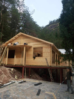 2015 Prefabricated cheap wood house log home factory direct sales