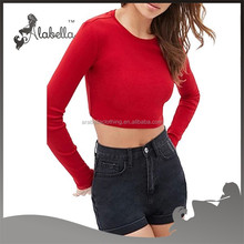 Latest Long sleeve top Women crop top full sleeve tops for girls
