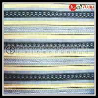 flannel fabric,Lightweight white yellow stripe flannel fabric for bedding