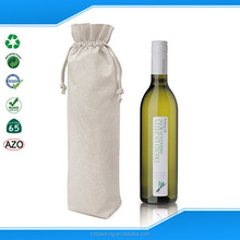 Wholesale high quality custom cotton wine bottle tote bag