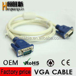 top selling High speed 30m long vga cable 15m/m 3+4 + 2 ferrites for sale