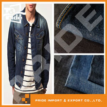 PR-JD301 cotton twill recycled denim jeans fabric stock lots textile