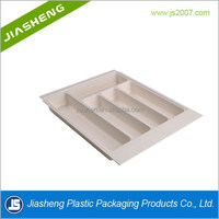 Blister packaging tray for stainless steel cutlery