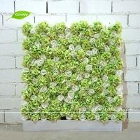 GNW FLW1508-3 Artificial Rose and Hydrangea Blossom Dried Flower Wall for wedding decor