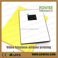 """Hot selling 2.4"""",2.8"""",3.5"""",4.3"""",5"""",7"""",10.1"""" lcd video player greeting card / advertising video brochure"""