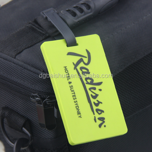 custom made soft pvc luggage tag for promotional gift,silicone luggage tag