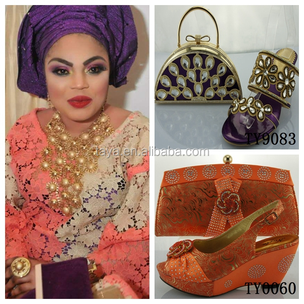 Italian Party Shoes And Bags African Bag Set