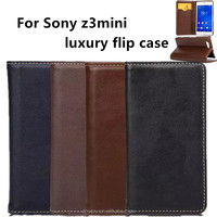 mobile phones cases for sony experia z3 mini luxury flip z3 compact z3mini case cell phone Protective sleeve made in china