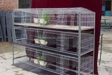 3 layers 12 doors galvanized rabbit cage for farm