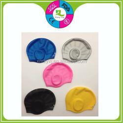 silicone ear swim cap
