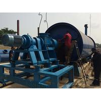 2015 Zero emission new style scrap tire pyrolysis oil plant in uae