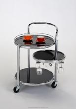 New Designe Black Glass Serving tray