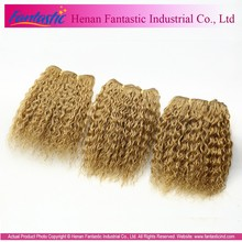 hot wholesale cheap indian virgin remy hair weave blonde deep curly