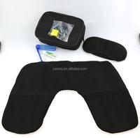 Zipper bag include eye mask pillow earplug toothbrush travel set
