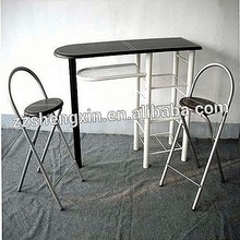 1+2 Table And Chairs Wood Metal Dining Sets
