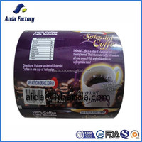 Custom plastic food wrap film/coffee laminated palstic film in rolls