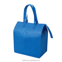 Fitness picnic delivery Blue Non woven tote outdoor cooler bag