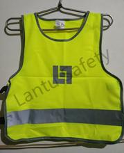 2015 new style 100% polyester printed logo safety reflective vest