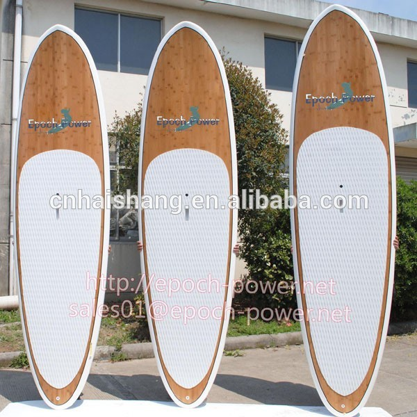 2015 nice design melhor forma de lâminas de bambu stand up paddle board para vender