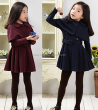 j1001 2015 wholesale fashion hot sale new autumn girls small coat+dress 2 piece clothes set