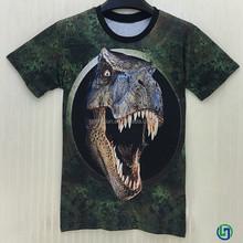 2015 popular fashion men's short sleeve t-shirt , animal 3d printing design t shirt for men