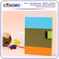Colorful Contrast color Wallet Flip case with card holder for New Apple iPad mini 2th Generation