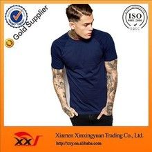 top fashion navy bule blank t shirt design your logo slim fit blank t-shirt