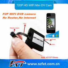 mini wifi spy camera,30fps audio video dual recording, Support IPhone/IPad/Android system