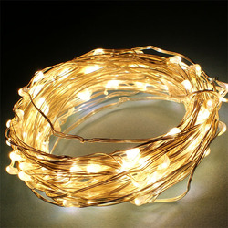 10 metre decorative led christmas light copper wire transparent silver copper wire led string light