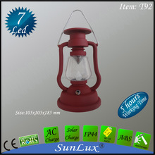 solar rechargeable camping emergency 7 led lantern