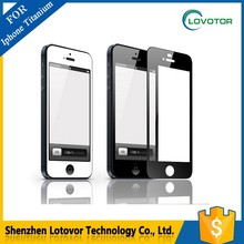Ultra high transmittance clear gold tempered glass screen protector for iphone 5/5S/5C