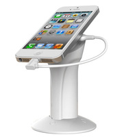 New Arrival retractable sensor cable cell phone display holder with alarm