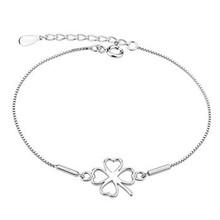 560383 Lucky Clover 925 Sterling Silver Bracelet