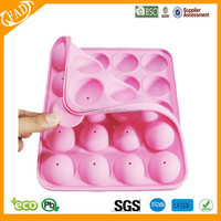 2014 hot sell promotional more durable easy clean silicone lolly mold