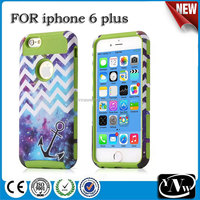 Star & Anchor 3 in 1 Soft Hard Back Hybrid Impact Armor Cases For Apple iPhone 6 4.7 Inches