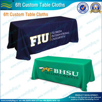 6ft tradeshow custom printing table cloth,table runner,tables covers