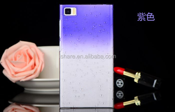 Gradient Color Changing Transparent Clear Plastic Hard Back Cover for Xiaomi redmi note