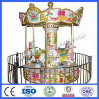 Small kids merry go round for sale 6 seats mini carousel