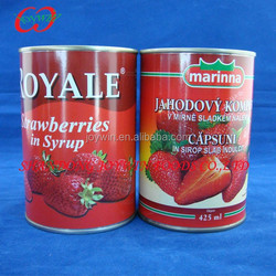 Strawberry in syrup in 3100ml 425ml canned fruits
