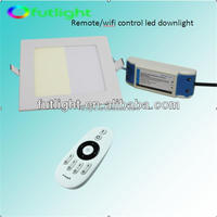 2014 2.4G wireless controller& WiFi ultra slim 12w qualified white LED square downlight retrofit with CE&RoHS